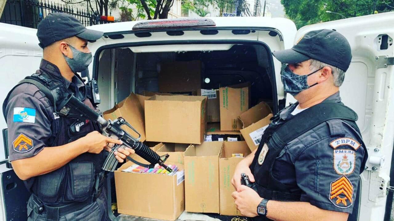 Roubo de carga na Rua Álvaro Ramos, Botafogo.